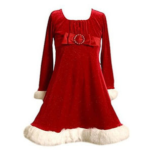 Sparkle Velvet Santa Dress, NEW